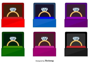 Ring Box Vector Icons - vector #427351 gratis