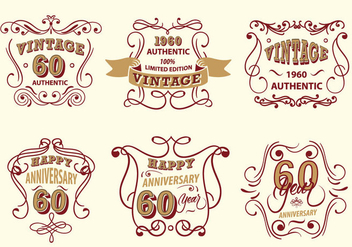 Vintage Label Scrollwork Vector Pack - бесплатный vector #427481