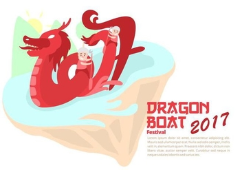 Dragon Boat Festival Background - vector #427511 gratis