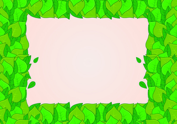 Background of natural green leaves - vector gratuit #427621