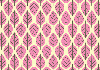 Pink Leaf Background Daun Vector - vector gratuit #427671