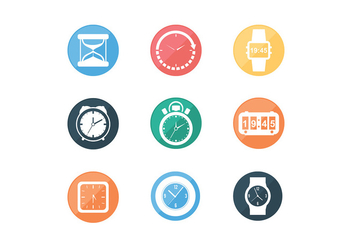 Various Timer Icon Free Vectors - бесплатный vector #427971