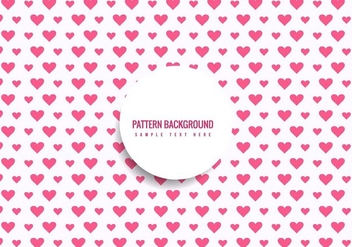 Free Vector Hearts Pattern Background - Free vector #428061
