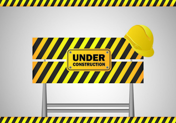 Under Construction Sign Vector - бесплатный vector #428081