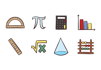 Free Mathematic Icons - vector #428101 gratis