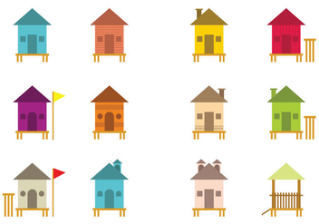 Various Vector Shack Icons - vector #428111 gratis