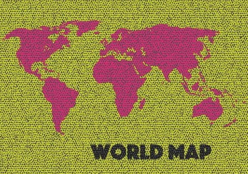 World Map Vector - vector #428141 gratis