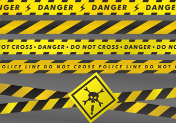 Danger Tapes Vector Sets - vector gratuit #428151