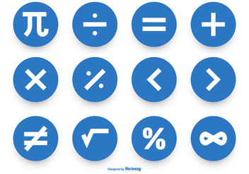Math Symbol Vector Icon Collection - Free vector #428181