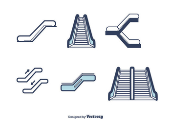 Escalator Vector - vector #428241 gratis