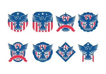 Eagle Seal Badge Vector Pack - vector gratuit #428331