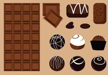 Chocolate Product Vector - vector gratuit #428381