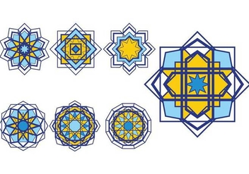 Islamic Ornaments Vector Set - vector gratuit #428431
