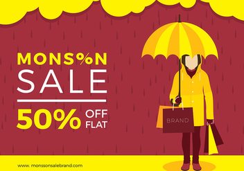 Monsoon Sale Free Vector - Kostenloses vector #428441