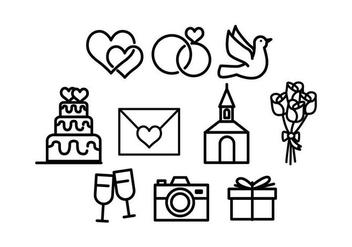 Free Wedding Icon Vector - бесплатный vector #428461