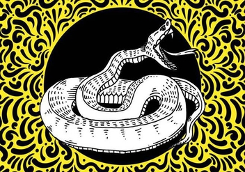 Ornate Snake Design - Free vector #428471