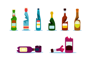 Fullcolor Broken Bottle Free Vector - vector #428481 gratis