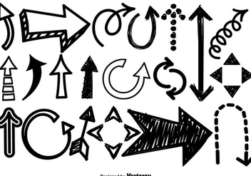 Doodle Arrow Icons Vector Set - Free vector #428551
