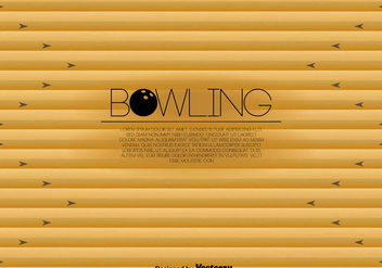Bowling Lane Template Vector - бесплатный vector #428561