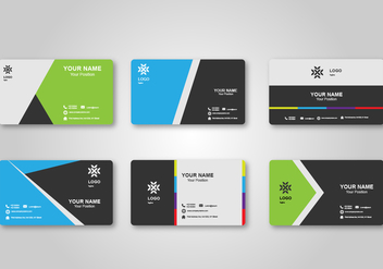 Bright Blank Business Card Design - Free vector #428591