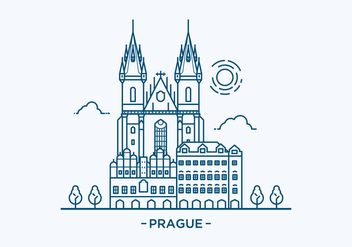 Prague Landmark Illustration - vector gratuit #428601