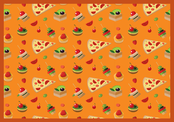 Canapes Seamless Pattern Free Vector - Kostenloses vector #428651