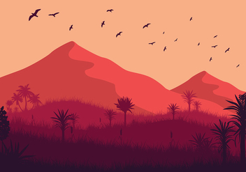 Free Wild Yucca Landscape Vector - Free vector #428661