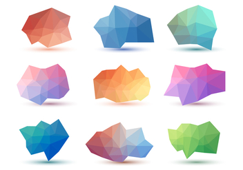 Free Abstract Low Poly Vector Collections - Kostenloses vector #428681