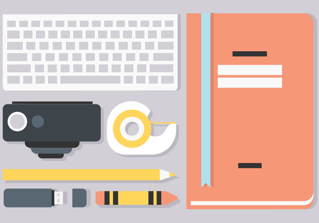 Free Flat Workstation Vector Elements - vector #428691 gratis