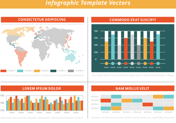 Free Flat Infographic Vector Elements - Kostenloses vector #428711