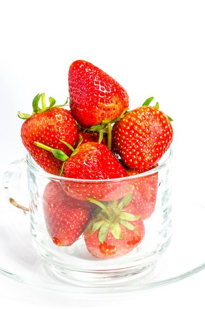 Sweet strawberries in cup - Free image #428781