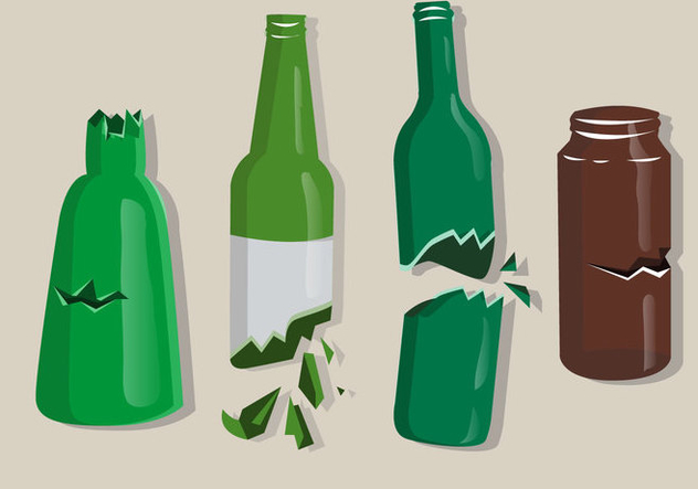 Colored Broken Bottles Isolate - Kostenloses vector #428821