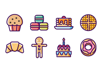 Bakery Icon Set - vector gratuit #428831