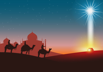 Happy Epiphany Days Vector Background - Kostenloses vector #428851