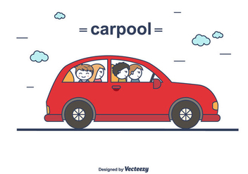 Carpool Vector - Free vector #428881