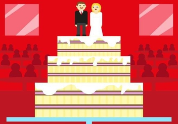 Boda Wedding Cake Vector Illustration - Free vector #428911