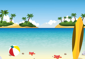 Playa Landscape Free Vector - Free vector #428931