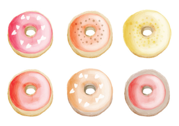Vector Hand Drawn Donuts Collection - vector gratuit #428991