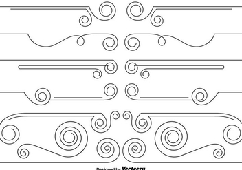 Vector Set Of Curly Dividers - vector gratuit #429021