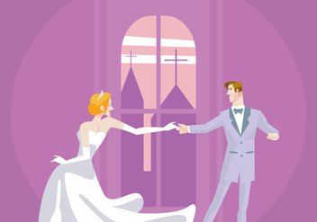 Wedding Couple Dancing Vector - бесплатный vector #429091