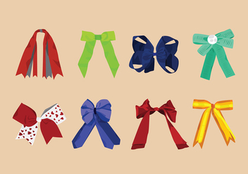 Hair Ribbon Free Vector - vector #429141 gratis