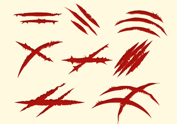 Free Red Scratch Marks Collection - Kostenloses vector #429161