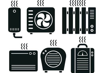 Heater Icon Vector Set - бесплатный vector #429181