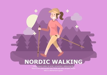 Nordic Walking Background - vector #429211 gratis