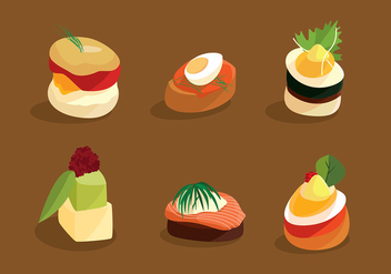 Canapes Cuisine Free Vector - Kostenloses vector #429241