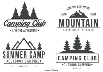 Camping Logo Collection - vector #429251 gratis