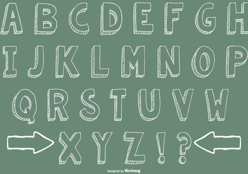 Hand Drawn Alphabet Collection - Free vector #429261