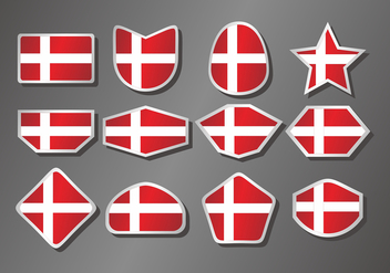 Danish Flag Vector Set - vector gratuit #429271