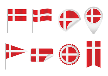 Free Danish Flag Vectors - бесплатный vector #429281