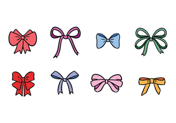Hair Ribbon Vector Set - Free vector #429291
